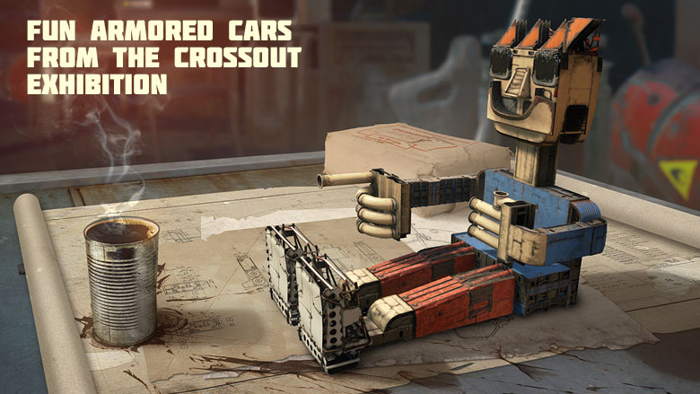 [News] Fun armored cars from the Crossout exhibition